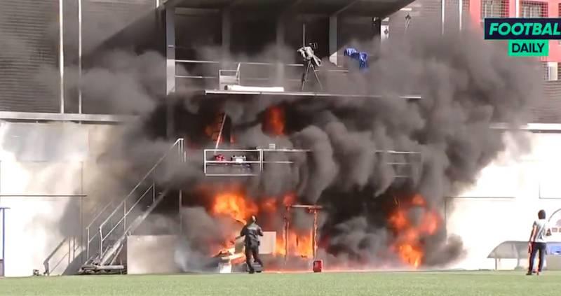 Alarma por aterrador incendio en estadio donde jugará Inglaterra
